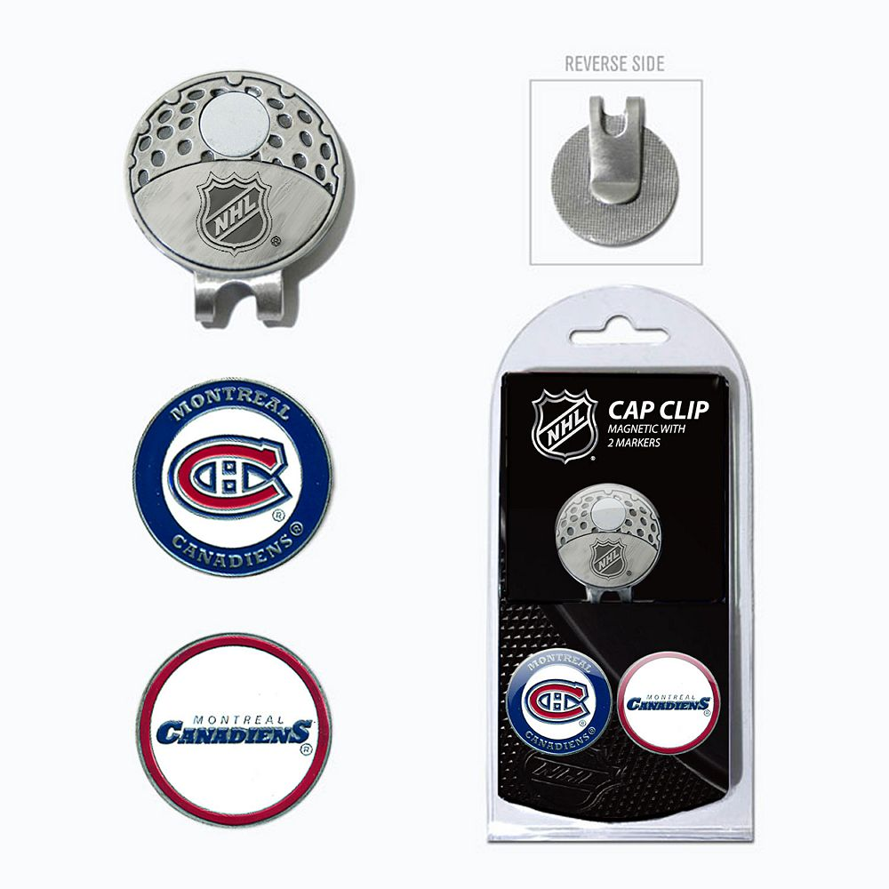 Team Golf Montreal Canadiens Cap Clip & Magnetic Ball Markers