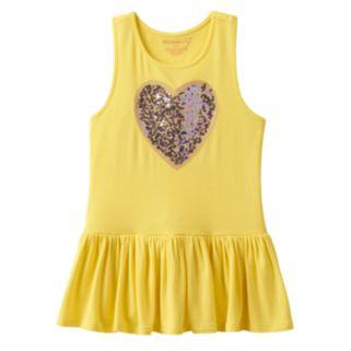 Design 365 Toddler Girl Sequin Heart Tunic