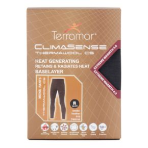 Men's Terramar Climasense Thermawool CS Merino Heat-Generating Performance Base Layer Pants
