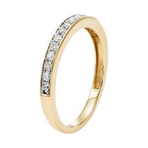 1/4 Carat T.W. IGL Certified Diamond 14k Gold Wedding Ring