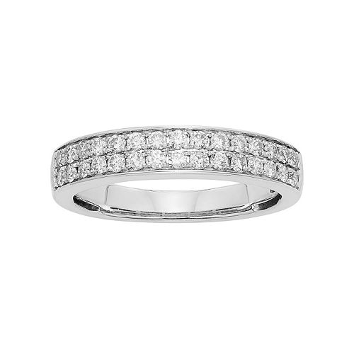 1/2 Carat T.W. IGL Certified Diamond 14k Gold Wedding Ring