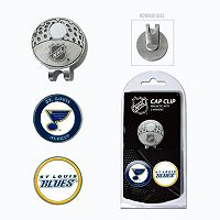 Team Golf St. Louis Blues Cap Clip & Magnetic Ball Markers