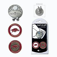 Team Golf Arkansas Razorbacks Cap Clip & Magnetic Ball Markers