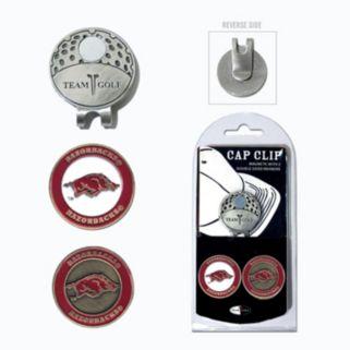 Team Golf Arkansas Razorbacks Cap Clip & Magnetic Ball Markers