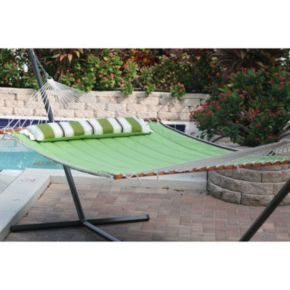 Smart Garden Santorini Double Wide Quilted Reversible Hammock
