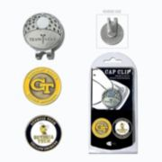 Team Golf Georgia Tech Yellow Jackets Cap Clip & Magnetic Ball Markers