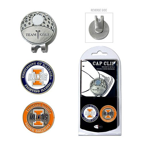 Team Golf Illinois Fighting Illini Cap Clip & Magnetic Ball Markers