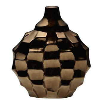 Elements Metallic Rippled Vase