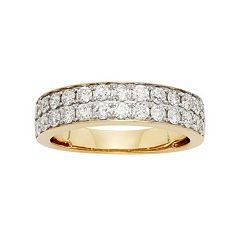 1 Carat T.W. IGL Certified Diamond 14k Gold Wedding Ring