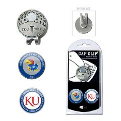 Team Golf Kansas Jayhawks Cap Clip & Magnetic Ball Markers