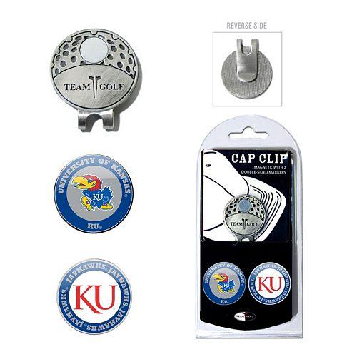 Team Golf Kansas Jayhawks Cap Clip & Magnetic Ball Markers