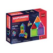 Magformers 40 pc Clear Solid Rainbow Set