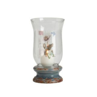 Elements Rustic Butterfly Hurricane Candleholder