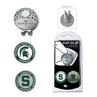 Team Golf Michigan State Spartans Cap Clip & Magnetic Ball Markers