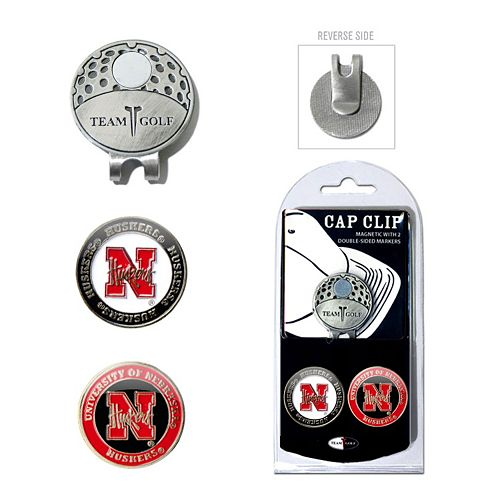 Team Golf Nebraska Cornhuskers Cap Clip & Magnetic Ball Markers