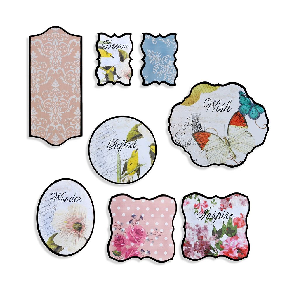 Elements 8-piece Nature Walk Wall Plaque Set