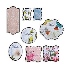 Elements 8 pc Nature Walk Wall Plaque Set