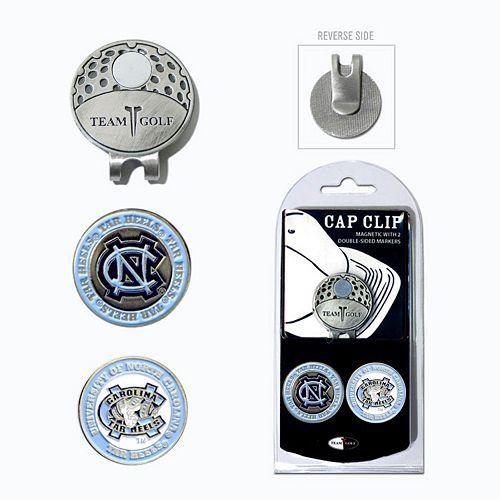 Team Golf North Carolina Tar Heels Cap Clip & Magnetic Ball Markers