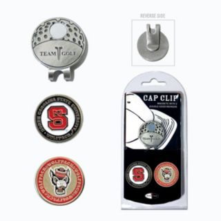Team Golf North Carolina State Wolfpack Cap Clip & Magnetic Ball Markers