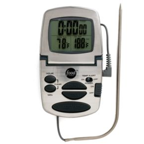 Food Network? Programmable Digital Cooking Thermometer