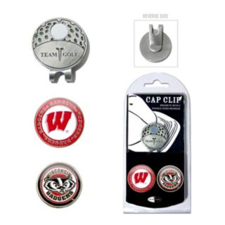 Team Golf Wisconsin Badgers Cap Clip & Magnetic Ball Markers