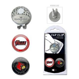Team Golf Louisville Cardinals Cap Clip & Magnetic Ball Markers
