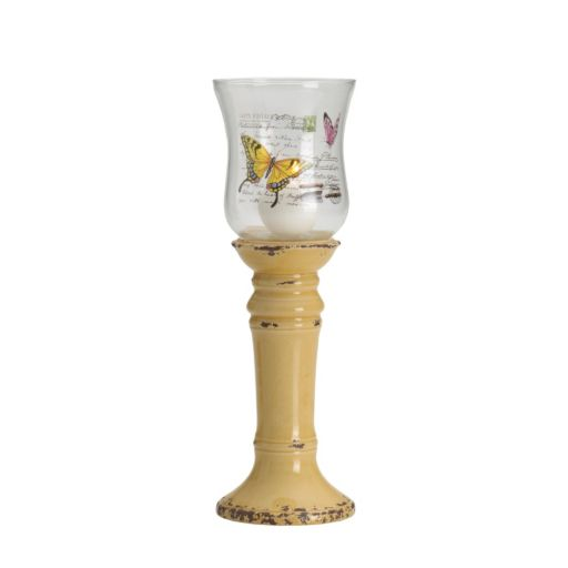 Elements 15-in. Butterfly Hurricane Candleholder