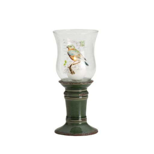 Elements 11-in. Bird Hurricane Candleholder
