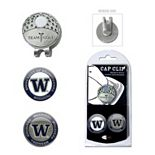 Team Golf Washington Huskies Cap Clip & Magnetic Ball Markers