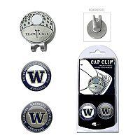 Team Golf Washington Huskies Cap Clip & Magnetic Ball Markers