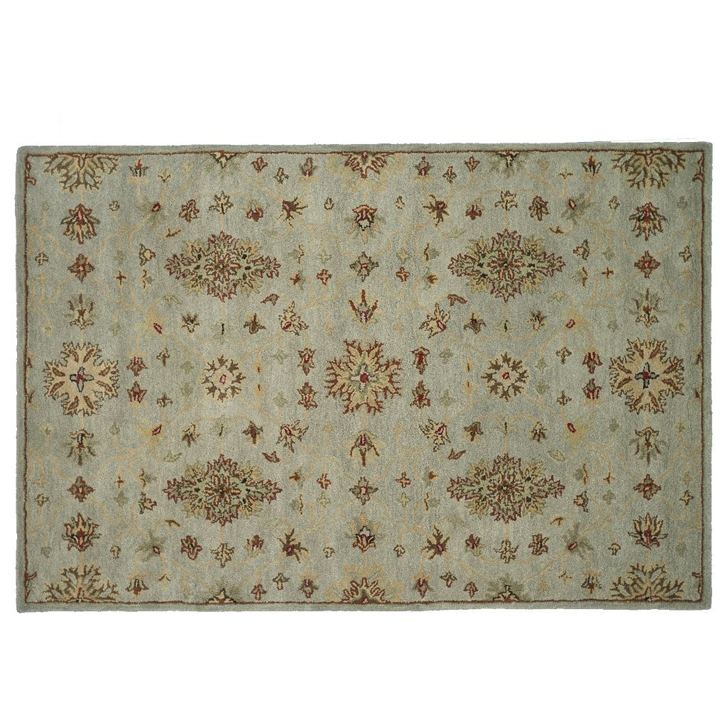 Loloi Fairfield Floral Lattice Wool Rug
