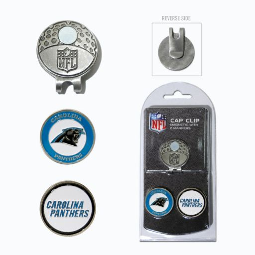 Team Golf Carolina Panthers Cap Clip & Magnetic Ball Markers