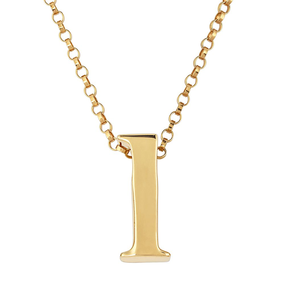 Sweet Sentiments 14k Gold Over Silver Initial Charm Pendant Necklace