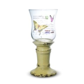 Elements 11-in. Butterfly Hurricane Candleholder