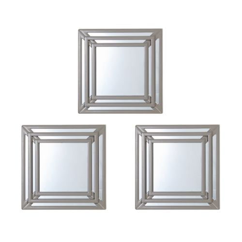 Elements 3-piece Triple Square Wall Mirror Set