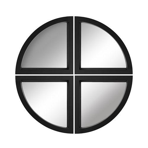 Elements 4-piece Quarter Circle Wall Mirror Set