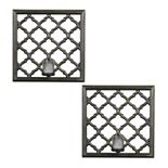 Elements 2-piece Lattice Candle Wall Sconce Set