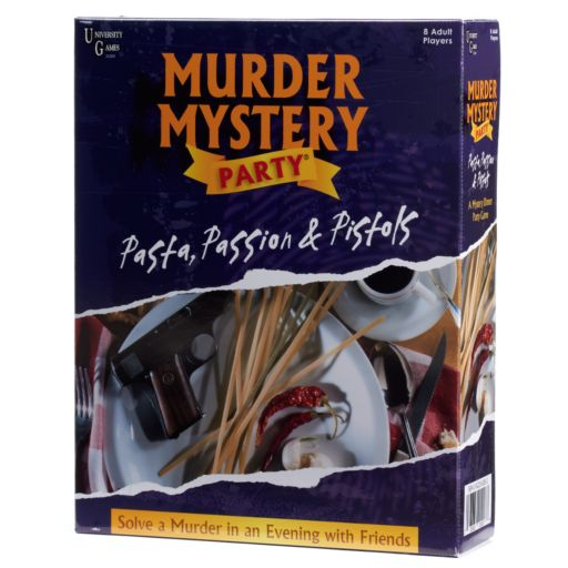University Games Pasta, Passion & Pistols: Murder Mystery Party Game