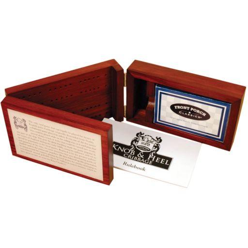 Front Porch Classics Knob & Heel Cribbage Board Game