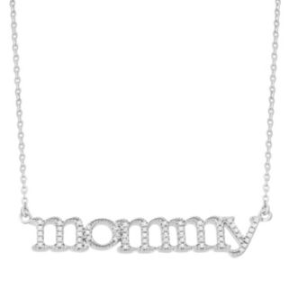 "1/6 Carat T.W. Diamond Sterling Silver ""Mommy"" Necklace"