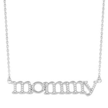 "1/6 Carat T.W. Diamond Sterling Silver ""Mommy"" Necklace"