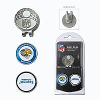Team Golf Jacksonville Jaguars Cap Clip & Magnetic Ball Markers