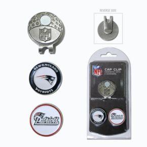 Team Golf New EnglandPatriots Cap Clip & Magnetic Ball Markers