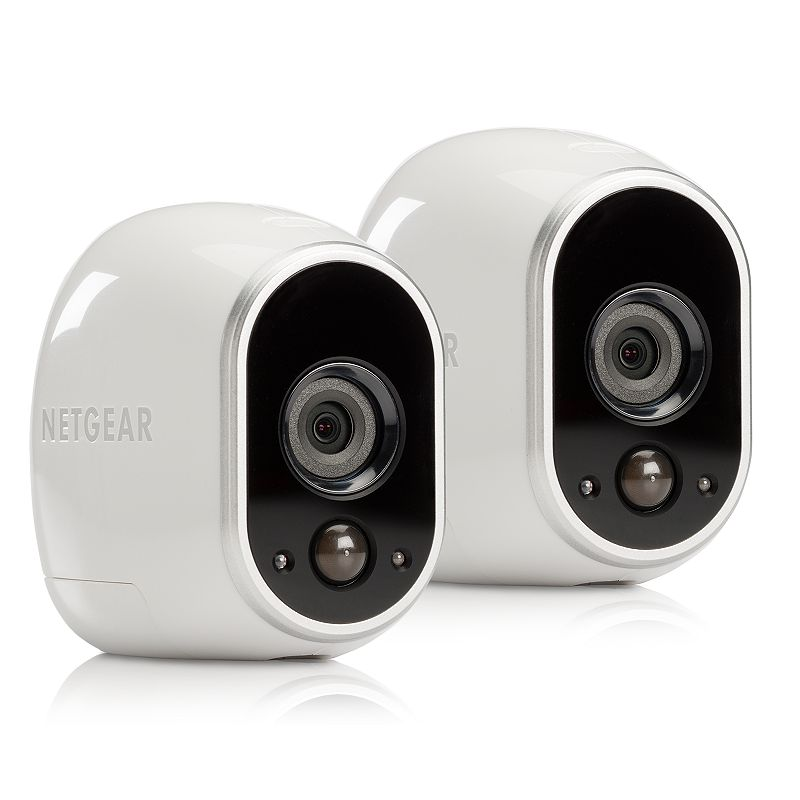 Netgear Arlo Smart Home Indoor Outdoor Wireless HD Security Camera System, White Monitor the security of your home from anywhere with this Netgear security camera system.Watch the product video here.Limit 5 per household. Wire-free magnetic mounts allow for setup anywhere. Arlo app provides remote viewing. Night vision and HD clarity makes visibility easy. What's Included 2 wireless security cameras Smart home base station Power adapter Ethernet cable 4 magnetic camera mounts 4 mounting screws 8 batteries Window decal Owner's manual Product Specifications Operating system: Windows, MAC, Apple iOS, Android Mobile OS support: Android Resolution: 1280 x 720 Wireless: WiFi 802.11 Indoor or outdoor use For information about the modified return policy, please click hereModel no. VMS3230-100NAS Size: One Size. Color: White. Gender: Unisex. Age Group: Adult. Material: Wire.