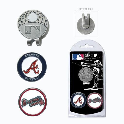Team Golf Atlanta Braves Cap Clip & Magnetic Ball Markers