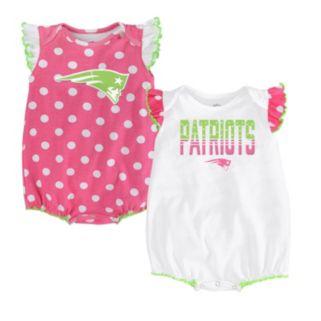 Baby New EnglandPatriots Polka-Dot Fan Bodysuit Set