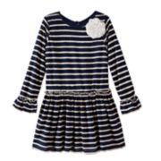Marmellata Classics Scalloped Stripe Dress - Girls 4-6x