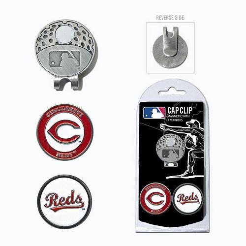 Team Golf Cincinnati Reds Cap Clip & Magnetic Ball Markers