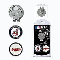 Team Golf Cleveland Indians Cap Clip & Magnetic Ball Markers
