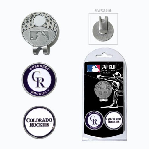 Team Golf Colorado Rockies Cap Clip & Magnetic Ball Markers